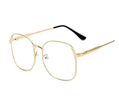 74b401539 Vintage Big Frame Flat Light Eyewear Fashion Korean Style Glasses ...