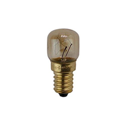 (WSDCN E14 T22 15W 220V~240V Oven Light Bulb Oven Lamp Heat Resistant Bulb 300'C)