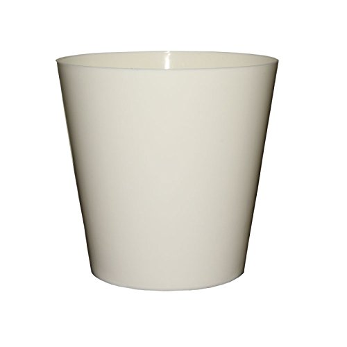White plastic plant pots amazon home garden ornaments flower pots round choice of 12 colours many sizes plant holder mightylinksfo