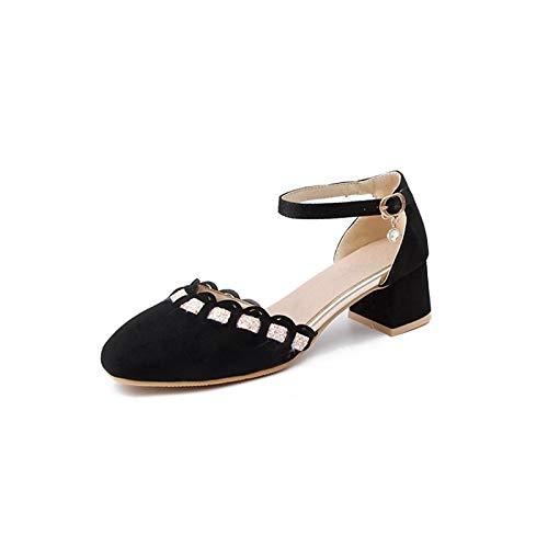 Comfort Black Shoes Beige Women's Heel Red Black Summer Spring Polyurethane PU ZHZNVX amp; Chunky Heels A05pPxpq