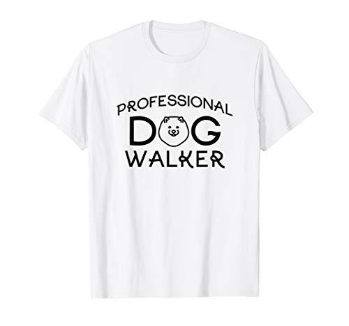 Professional Dog Walker Cute Puppy Tshirt Pet Lover T-Shirt