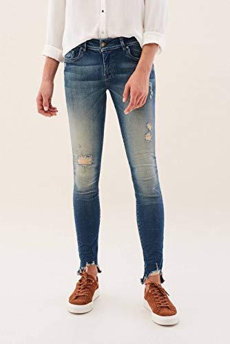Azul Bajo Y Rotos Salsa Pantalones Com Colette Asimétrico 8waqWv7FW