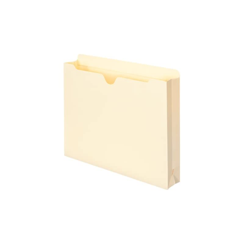 """Smead File Jacket, Reinforced Straight-Cut Tab, 2"""" Expansion, Letter Size, Manila, 50 Per Box (75560)"""
