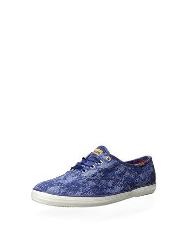Keds Kampioen Sneakers Met Kantprint, Blauw, Maat 9.0 Us