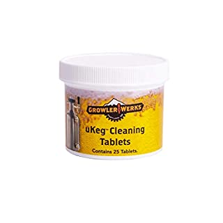 GrowlerWerks uKeg Cleaning Tablets, Qty 25
