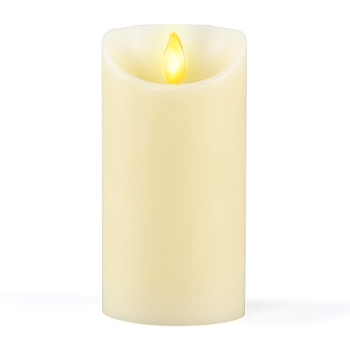 [iDOO Real Wax Flameless LED Candle Moving Wick with Velvety Vanilla Scent for Home/Party/Halloween/Wedding Decor and Celebration - 3