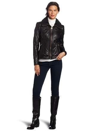 MICHAEL Michael Kors Women's Leather Zip-Front Jacket at