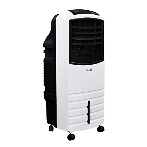 NewAir Portable Evaporative Air Cooler with Fan & Humidifier, Indoor Tower Fan in White, AF-1000W ()