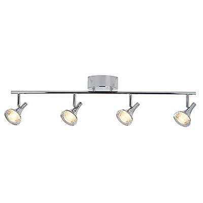 Artika TRK4PX-ON Pixxies Adjustable 4-Lights LED Track Lighting Kit Ceiling Mount Fixture, 1300 Lumens, Chrome Metal