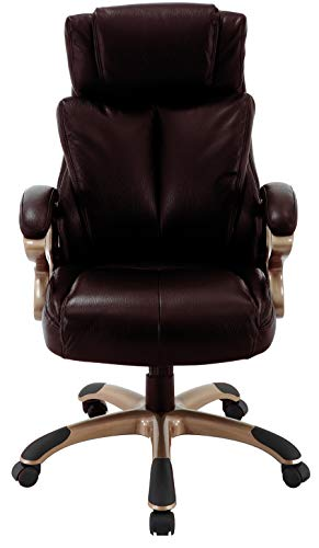 Hanover Hanover Atlas Executive Upholstered Faux Leather Seat In Brown And Copper Wheeled Base Office Chair From Amazon Daily Mail