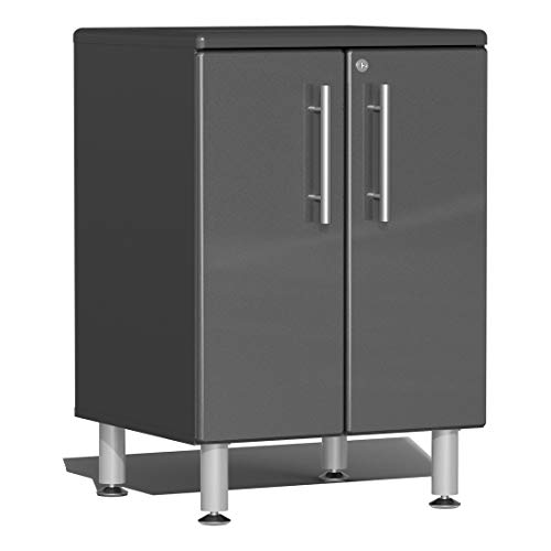 Ulti-MATE UG21002G 2-Door Base Garage Cabinet in Graphite Grey Metallic