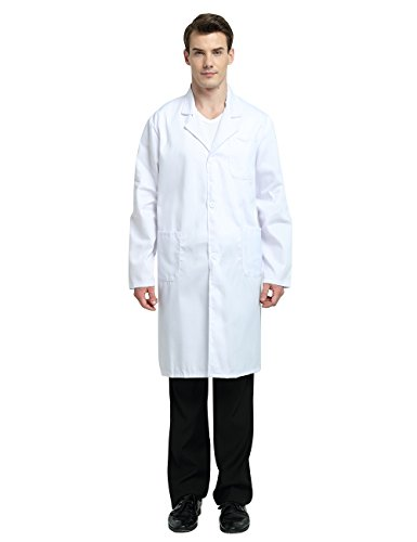 TopTie Everyday Scrubs Unisex Lab Coat White-USL