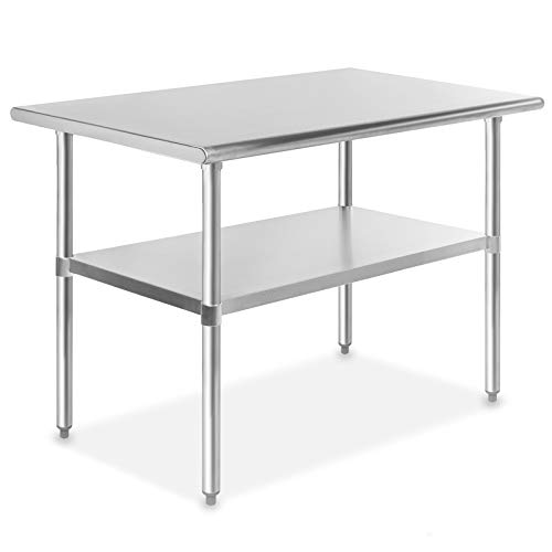 GRIDMANN NSF Stainless Steel Commercial Kitchen Prep & Work Table - 48 in. x 30 in. (Tables Industrial For Restaurants)