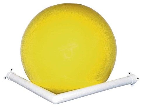 RiversEdge Products Storage Rack, Exercise Ball, Corner Wall-Mount, White