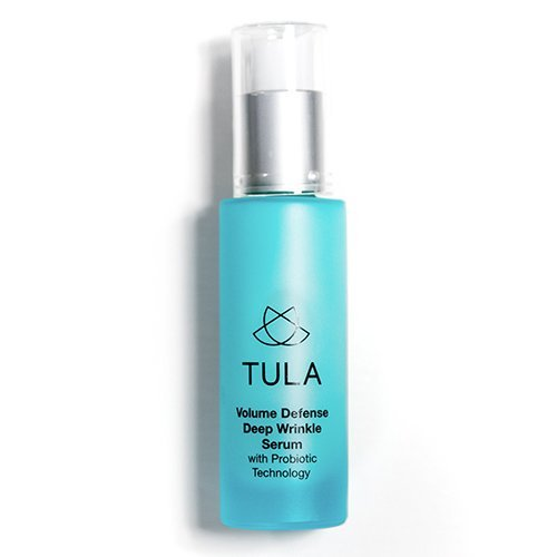 (TULA Probiotic Skin Care Volume Defense Deep Wrinkle Serum | Anti Aging Face Serum, Contains Retinol and Vitamin C for Plumper, Firmer, Smoother Looking Skin | 1 oz)