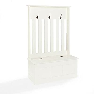 "251 First Grace White Entryway Hall Tree - 42""""W x 63""""H x 18""""D Finish: White - hall-trees, entryway-furniture-decor, entryway-laundry-room - 31GrPr7fmCL. SS400  -"