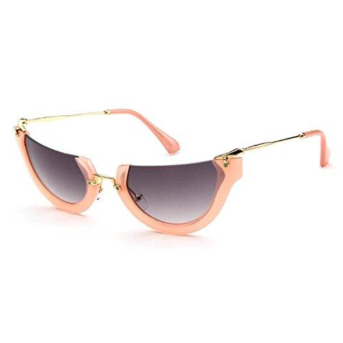 [LOMOL High Quality Womens Fashion Trendy Personality Semi-Rimless Uv Protection Sunglasses(C3)] (Morpheus Costumes Sunglasses)