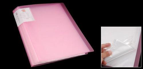 Amazon.com : Escuela de plástico eDealMax Oficina A4 de Papel Protector Diaplay Libro Titular de archivos Rosado claro : Office Products
