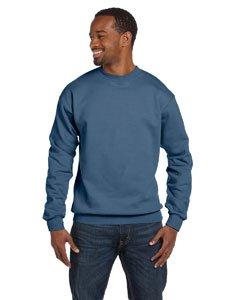 (Hanes Mens Long Sleeve Crewneck Sweatshirt - DENIM BLUE - Large )