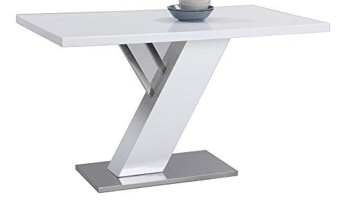 (Milan LILLIAN-DT Lillian Gloss White Modern Design Dining Table)