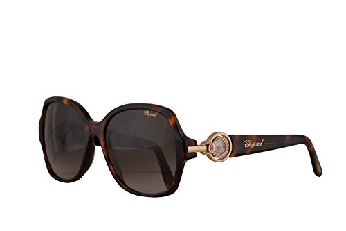 Chopard SCH206S Sunglasses Brown Havana w/Brown Gradient Lens 56mm 0748 SCH ()