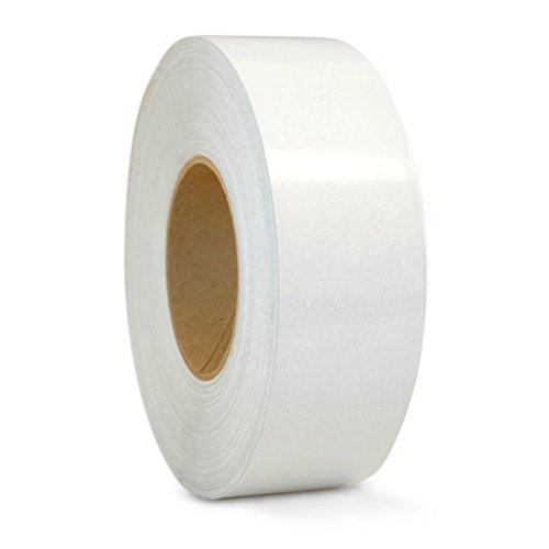 T.R.U. REF-7 Silver/White Engineering Grade Reflective Tape: 1 in. wide x 30 ft. length