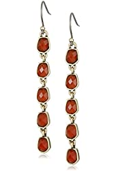 Lucky Brand Gold and Red Drop Earrings