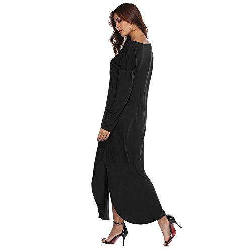Robe Printemps Haut Gallus Grande Cocktail Tunique Robe t de Chic Automne Femmes 001 Manches Plage Courtes Noir Taille De DContracte Soire BienBien Plage Vintage afwIA