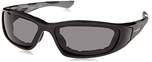 Crossfire Safety Glasses MP7 Dark Smoke Anti-Fog Lens Shiny