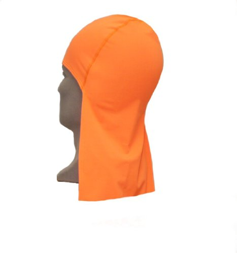 Maxit 103800145 CODA CAP Nylon/Spandex Solid Beanie Hat with Neck Shade, Universal, Orange
