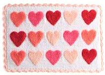 (Celebrate Valentine's Day Together Heart Bath Rug - Pink and Red Hearts)