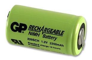 2200 Mah 1.2v Sub-C Ni-Mh Battery W/Solder Tabs