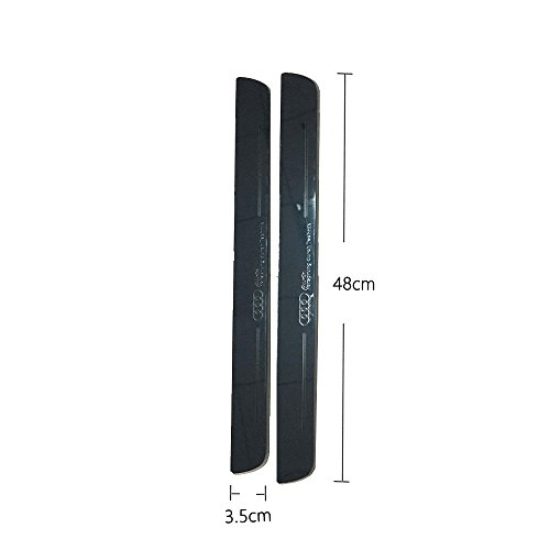 hongyingcar Audi Door Sill Door Scuff Plate For Audi A3/S3 2014-2017 (white) 2Pcs Front Door By