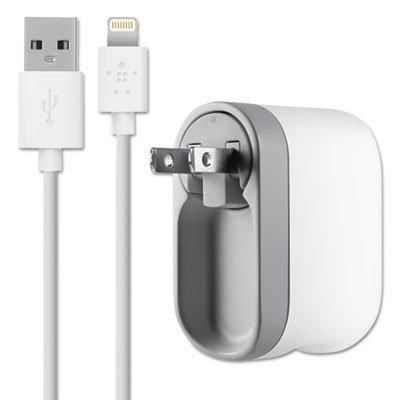 Belkin F8J03204WHT AC Charger w/Swivel iPod Universal White ()