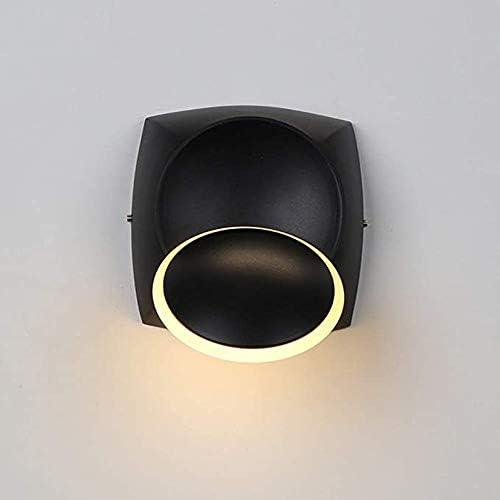 YALTOL Lampada da Parete LED Moderna 6 Watt 3000 K Lampada da Parete Lampada da Comodino Creativo Lampada da Parete Design Nero per Soggiorno Camera da Letto