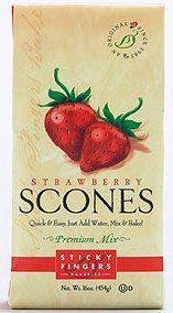 Sticky Fingers Strawberry Scone Mix 16oz - Cherry Scone