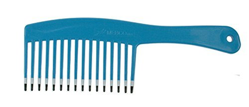 Mebco Hairdressing Salon Volume Volumising Handle Rake Hair Comb 200mm - Blue (Handle Mebco)