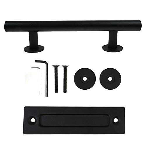 1/2/4pcs Sliding Barn Door Pull Flush Handle Gate Hardware Set Iron Black USA (4)