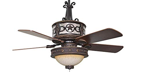 Sheridan Star Bronze Ceiling Fan - 52