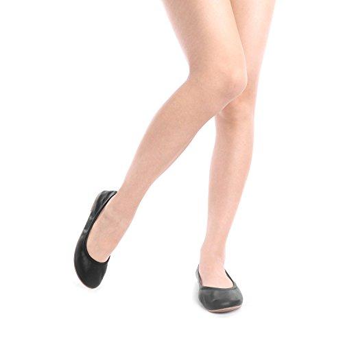 DREAM PAIRS Women's Sole-Fina Black Solid Plain Ballet Flats Shoes - 9 M US by DREAM PAIRS (Image #5)