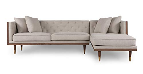 Kardiel Midcentury Modern Woodrow Neo Sofa Sectional Right,