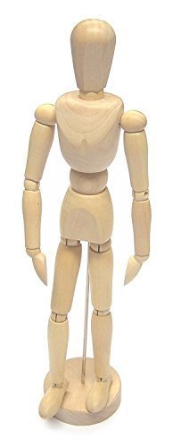 12 inch Figure Wooden Manikin Artists Human Mannequin Model Sketching Aid with Moveable Adjustable Limbs Quickdraw