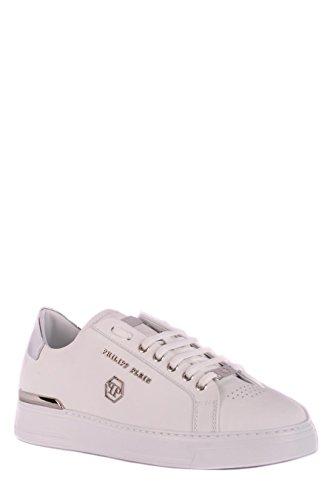 MSC1211PLE008N01 Weiss Leder Philipp Plein Sneakers Herren RqOxR078w