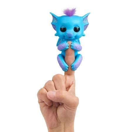 Wowee Fingerlings - Interactive Baby Dragon - Tara (Blue with Purple)