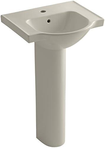 Kohler K - veer台座バスルームシンクwith Single蛇口穴 1.375 5265-1-G9 1