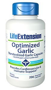 Life Extension – Optimized Garlic – 200 Vcaps (Pack of 2) For Sale