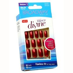 Broadway nails divine fast french flawless fit salon design medium # ()