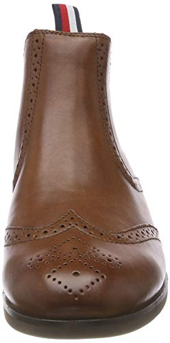 Tommy Dressy Leather Casual Cognac Chelsea Winter Bottes Marron 906 Hilfiger Homme rrwZxt5