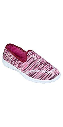 Slr Brands Womens Slip On Sneaker Scarpa Da Passeggio Casual Leggera Per Donna Rossa