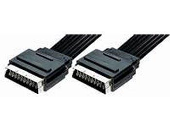 Unbekannt Lot de 2 câbles péritel 21 broches. Longueur du ruban plat : 0,5 m noir sonstige VF1-0 5UL (2x)*m